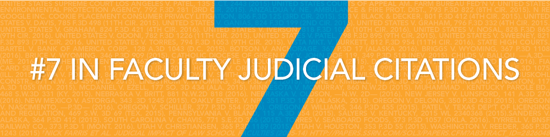#7 in Faculty Judicial Citations
